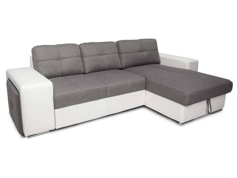 Canapé D Angle Convertible Gris Et Blanc Des Idées