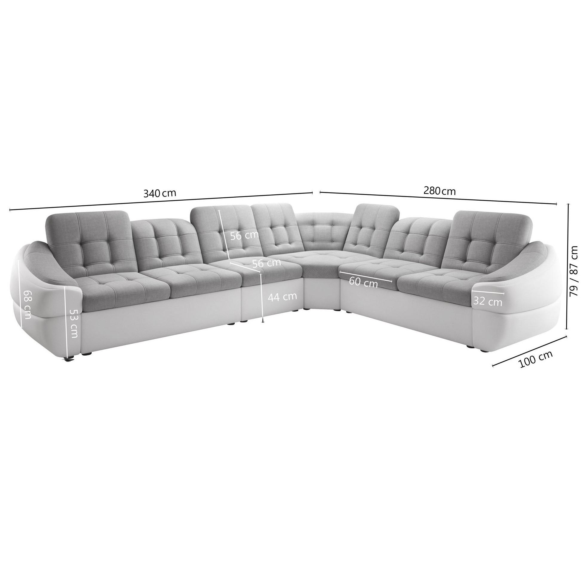 Canapé D Angle Cuir Beige Salon Canapé D'angle Ultra Design Avec Angle Réversible