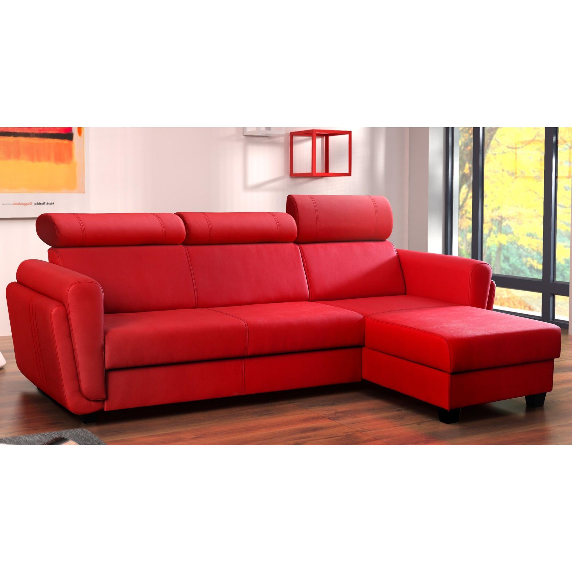 Canapé d angle convertible design 3 places avec méri nne