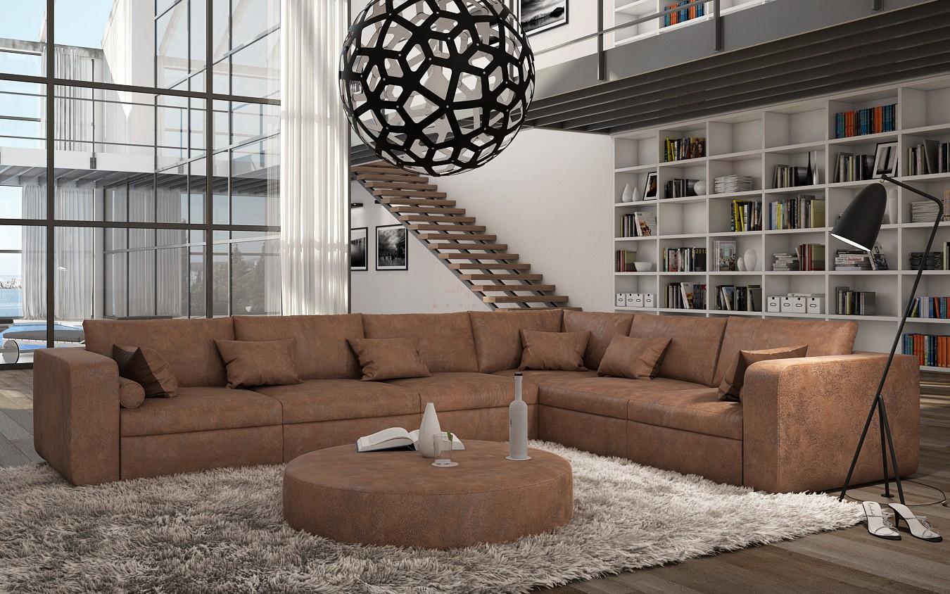 Canapé d angle design en cuir RETORIA 1 839 00
