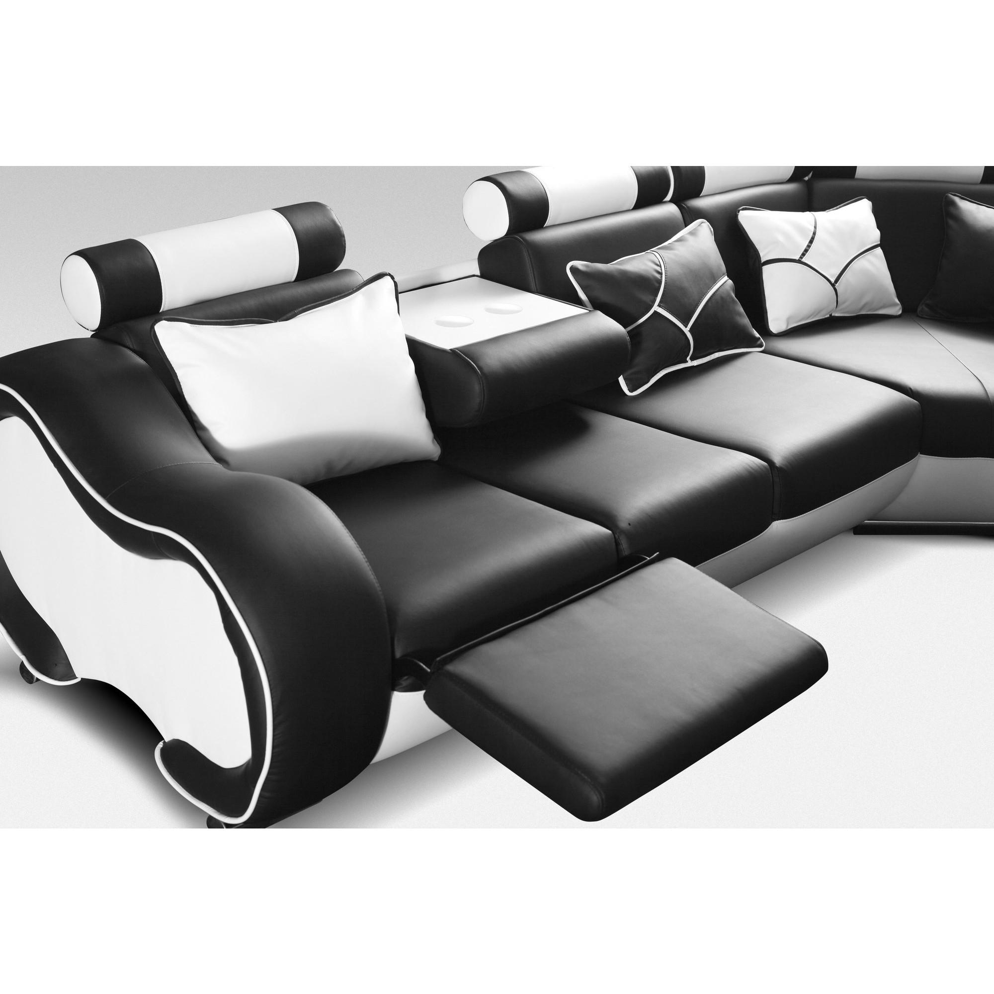 Canapé d angle droit design 5 places avec relax manuel en