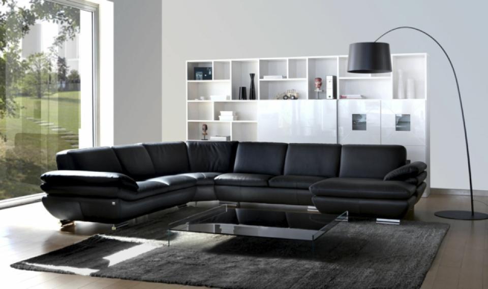 s canapé d angle cuir noir
