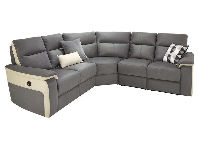 Canapé d angle relax électrique 5 places ALLAN coloris