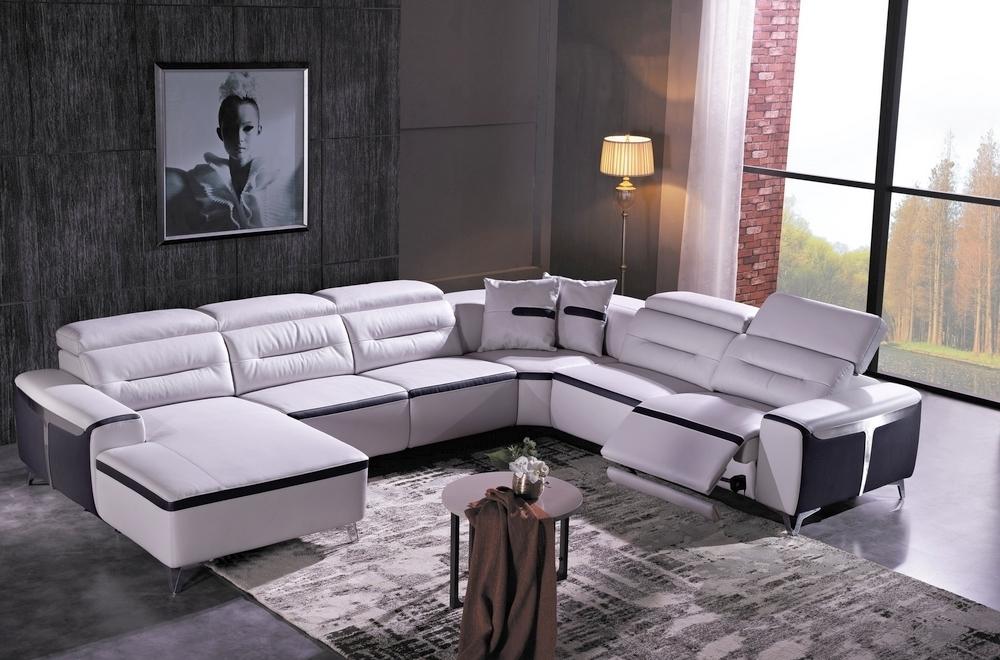 Canapé d angle relax électrique en cuir buffle italien de