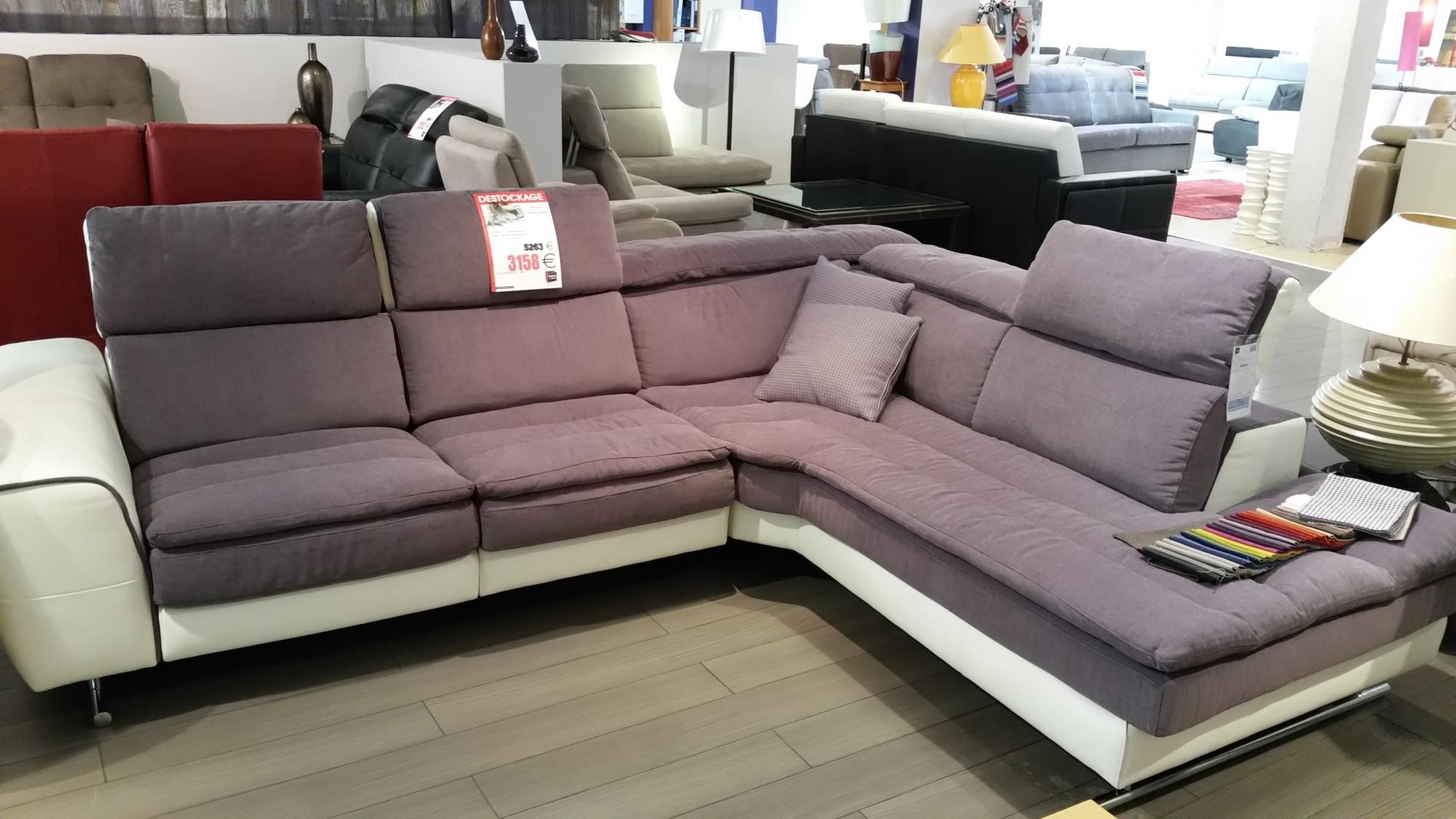 Canapé d angle Starlight 3 têtières manuelle et relax