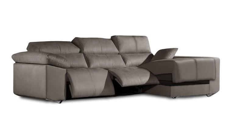 Canapé d angle Tejeda relax électrique tissu Mobilier Moss
