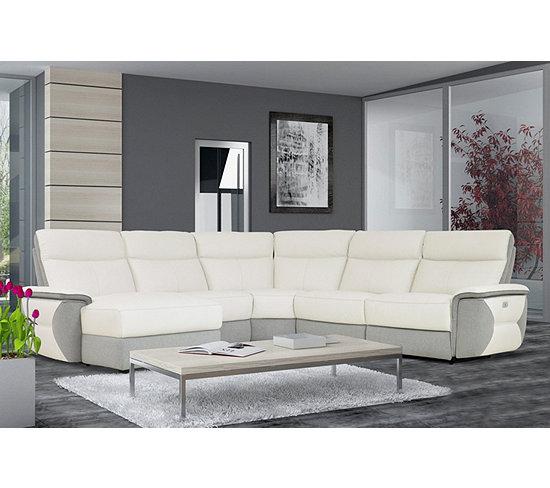 Canapé d angle U 1 relax électrique gauche WHITLEY cuir