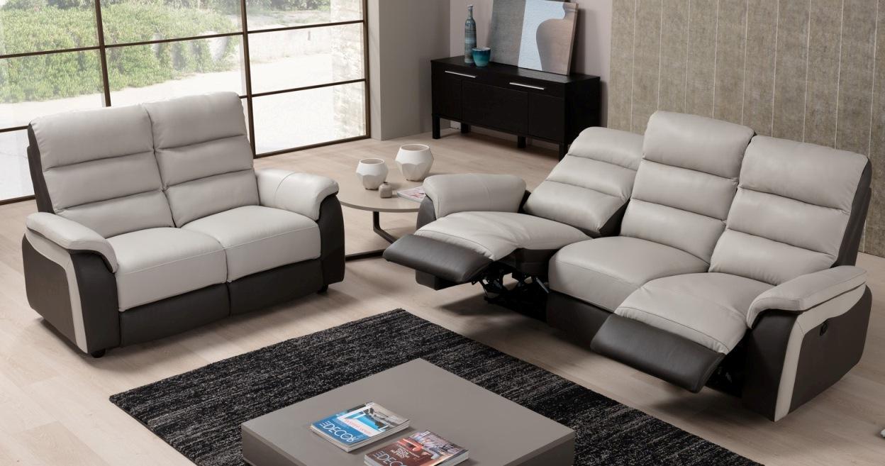 CHERYNE Canapé Cuir Relaxation électrique personnalisable