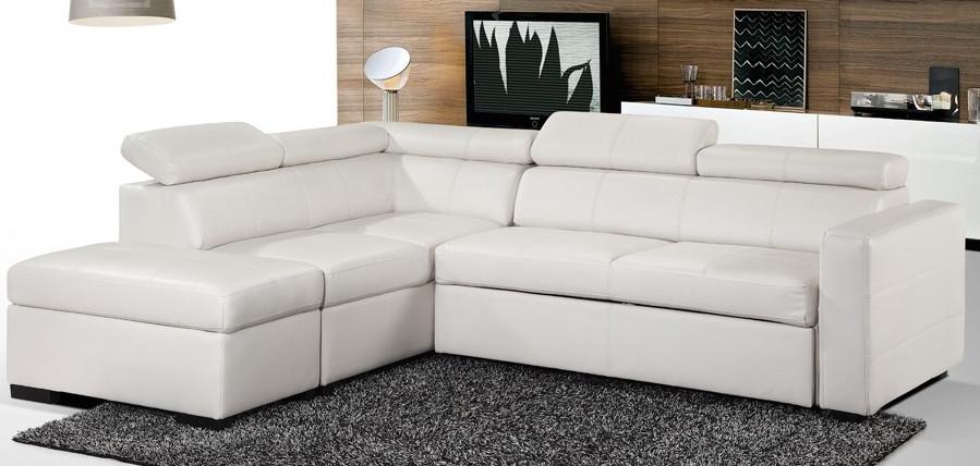 Canape Convertible Blanc Maison Design Wiblia