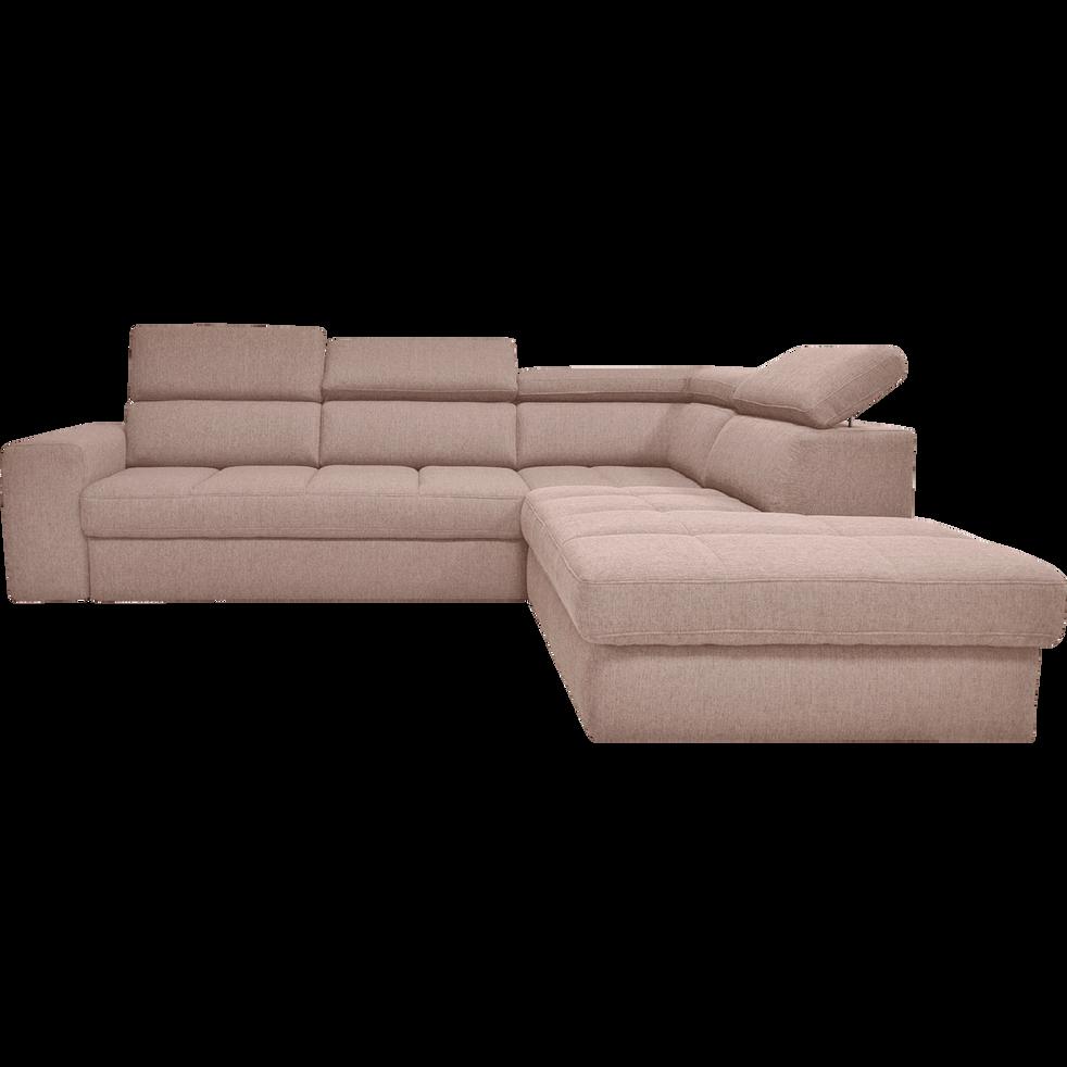 Canapé d angle droit panoramique convertible en tissu