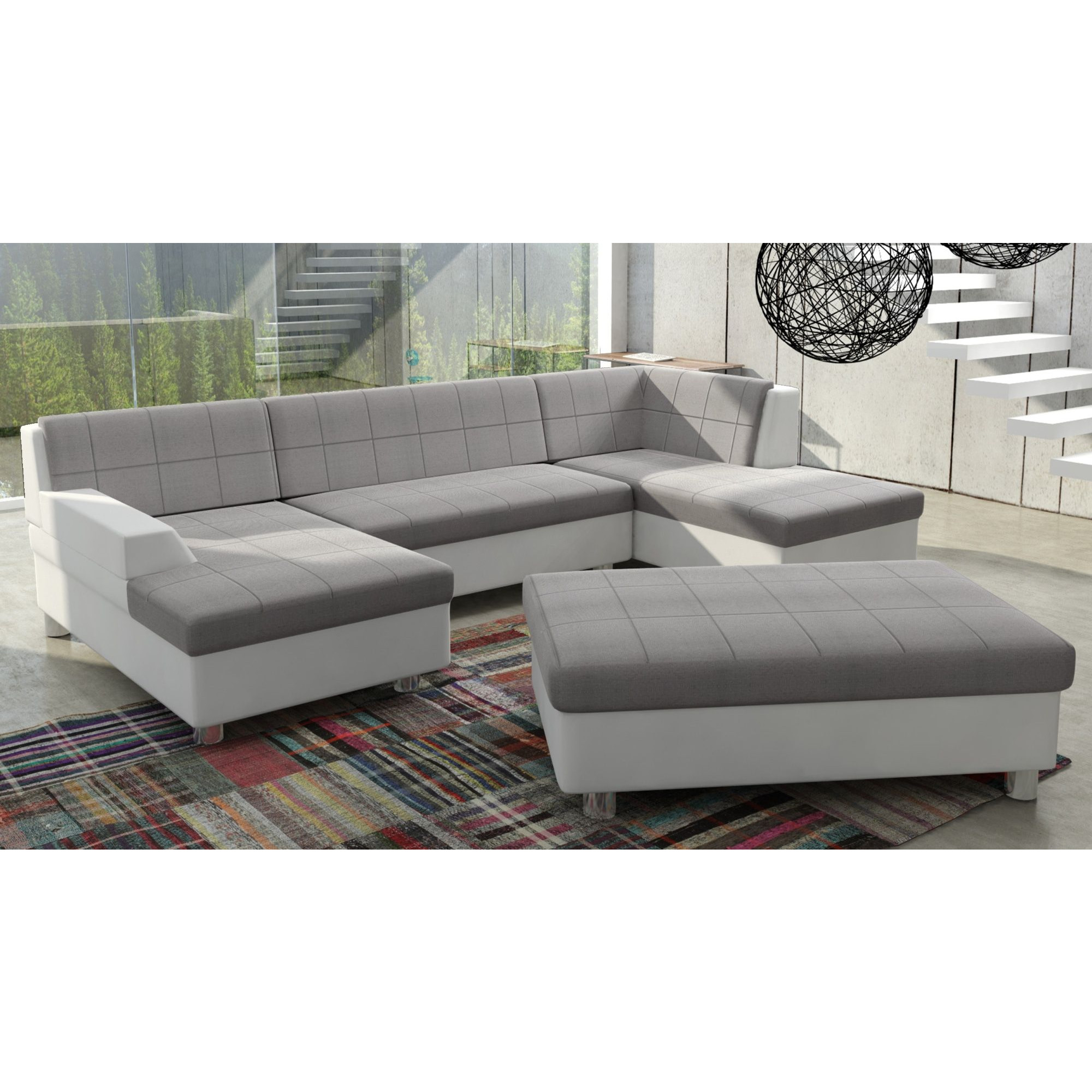 Canapé d angle panoramique design avec méri nne gauche