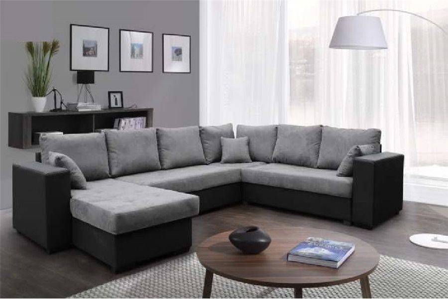 Canapé d angle panoramique Nelle microfibre chloe design