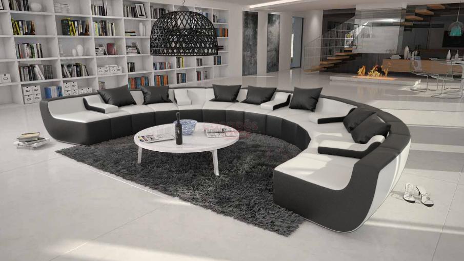 Canapé d angle cuir design Rond TISSERA Limited 1 899 00