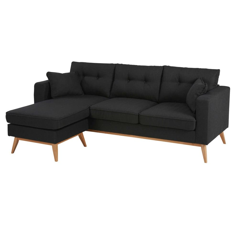 Canapé d angle modulable style scandinave 4 5 places gris