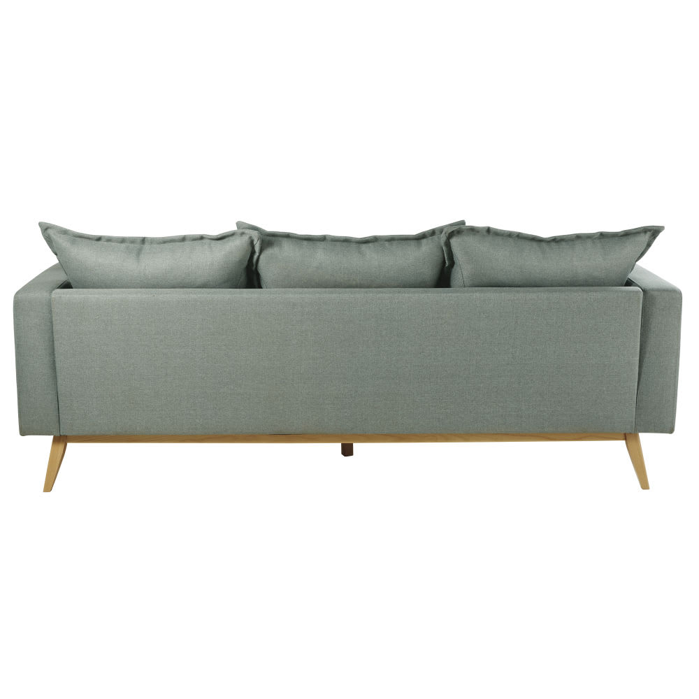 Canapé d angle modulable style scandinave 4 5 places vert