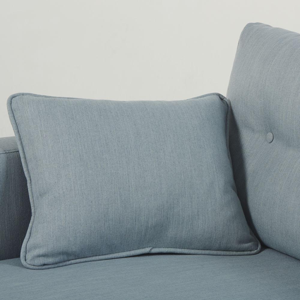 Canapé d angle style scandinave 4 5 places bleu glacier