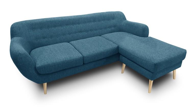 Canapé d angle vintage en tissu au design scandinave
