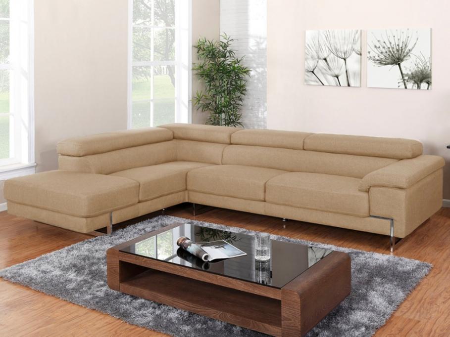 Canapé d angle en tissu BERTONI Canapé Vente Unique