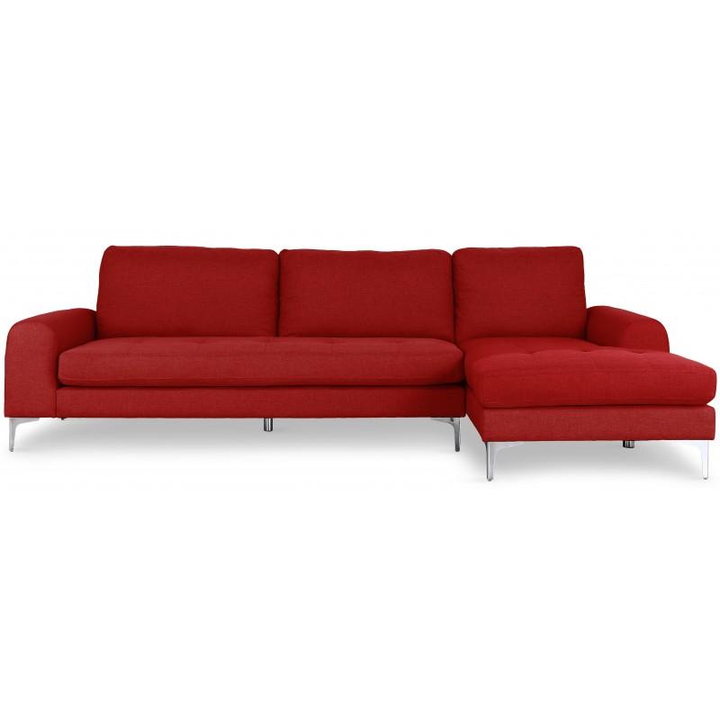 Canapé d angle Scandinave Tissu Rouge pas cher