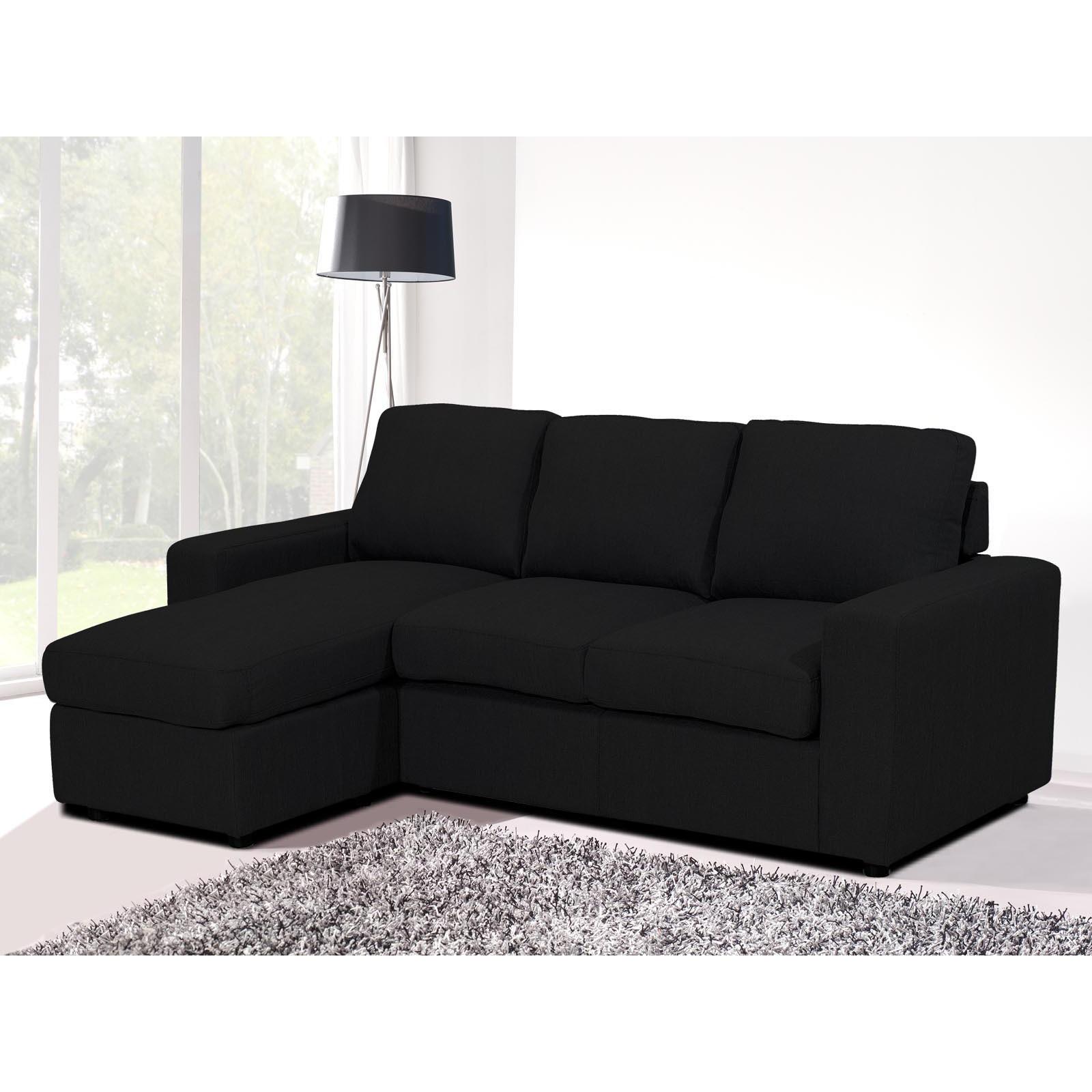 Canapé d angle tissu noir forium