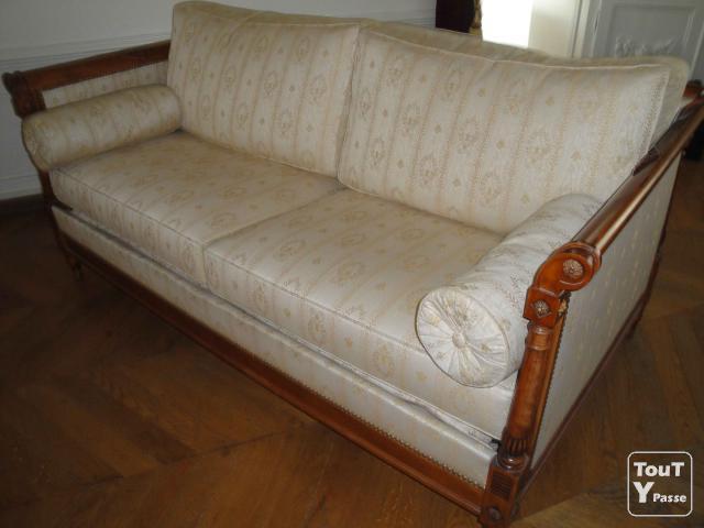 Canapé convertible style directoire et 2 fauteuils Draveil