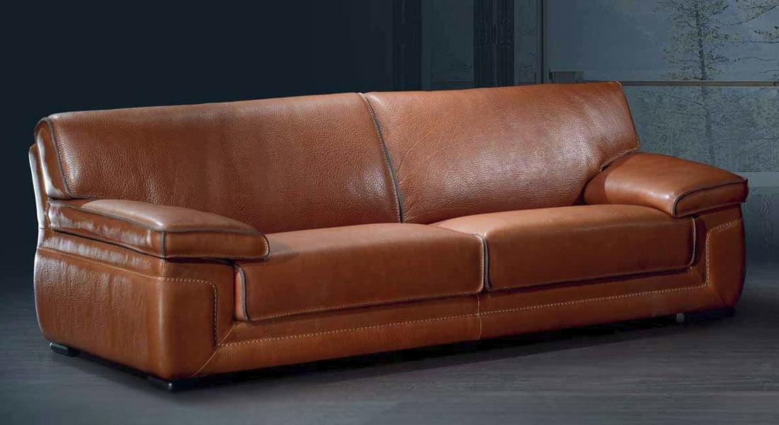 Canapé Cuir cognac Style contemporain