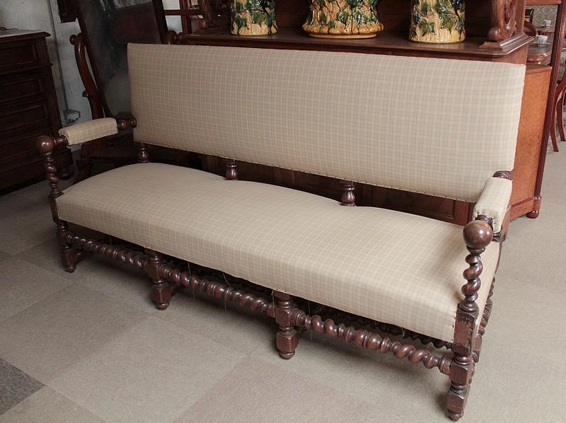 Canapé de Style Louis XIII en Chêne XXeme