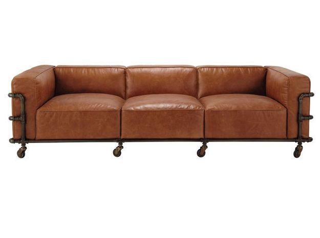 Le retour du canapé en cuir Elle Décoration