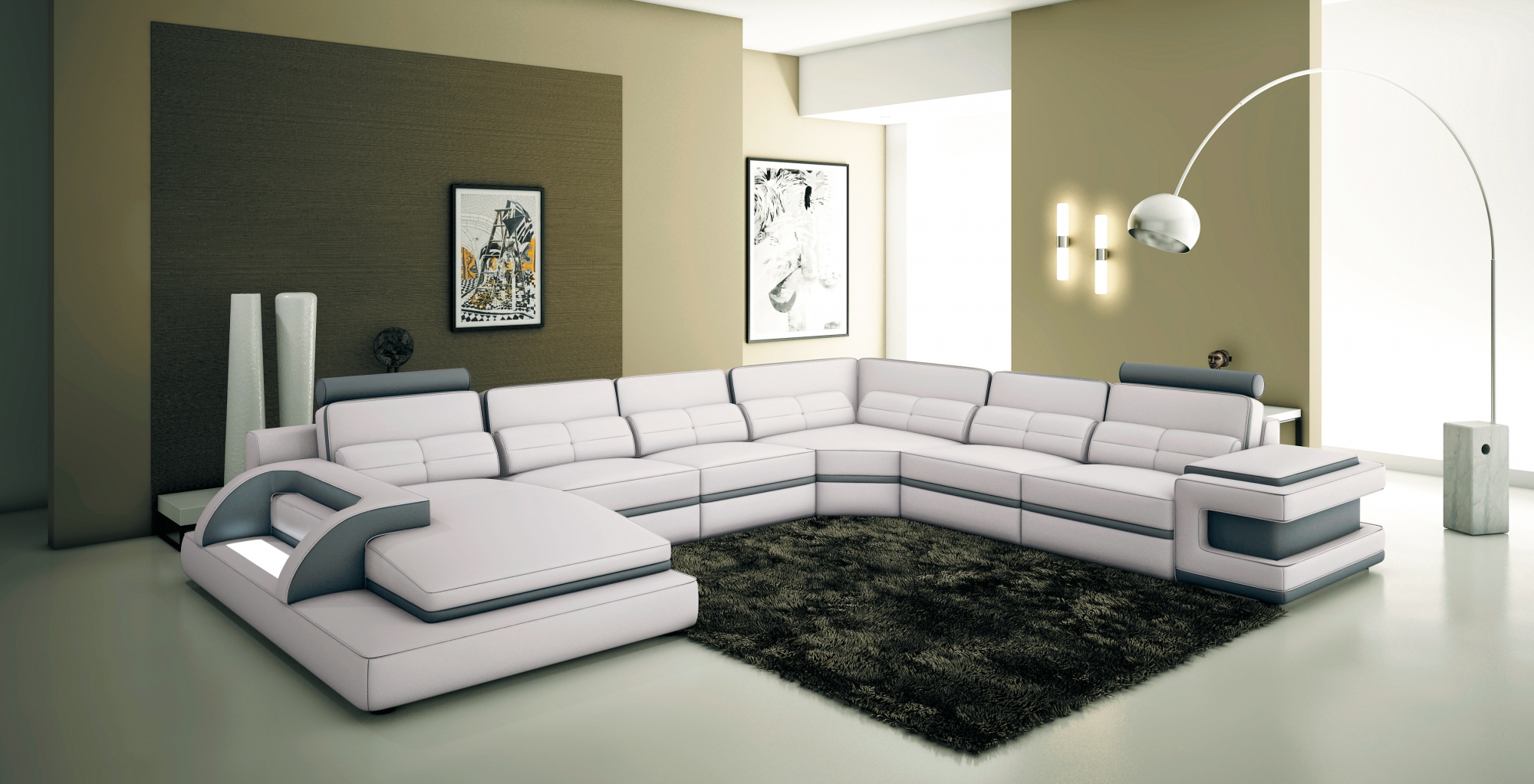 Canape Design Blanc Des Idées