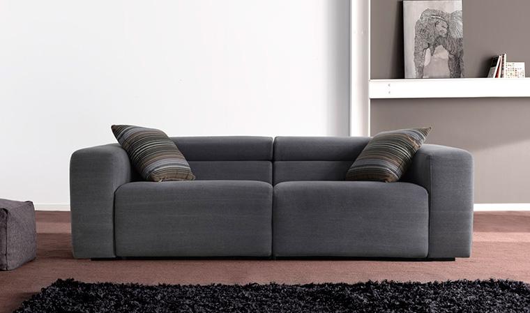 Canapé 2 places en tissu relax électrique Tissu en coton