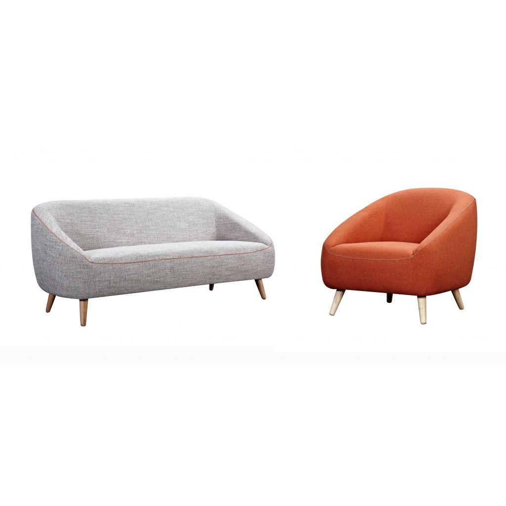 Canapé en tissu deux places canapé deux sièges Bonnie