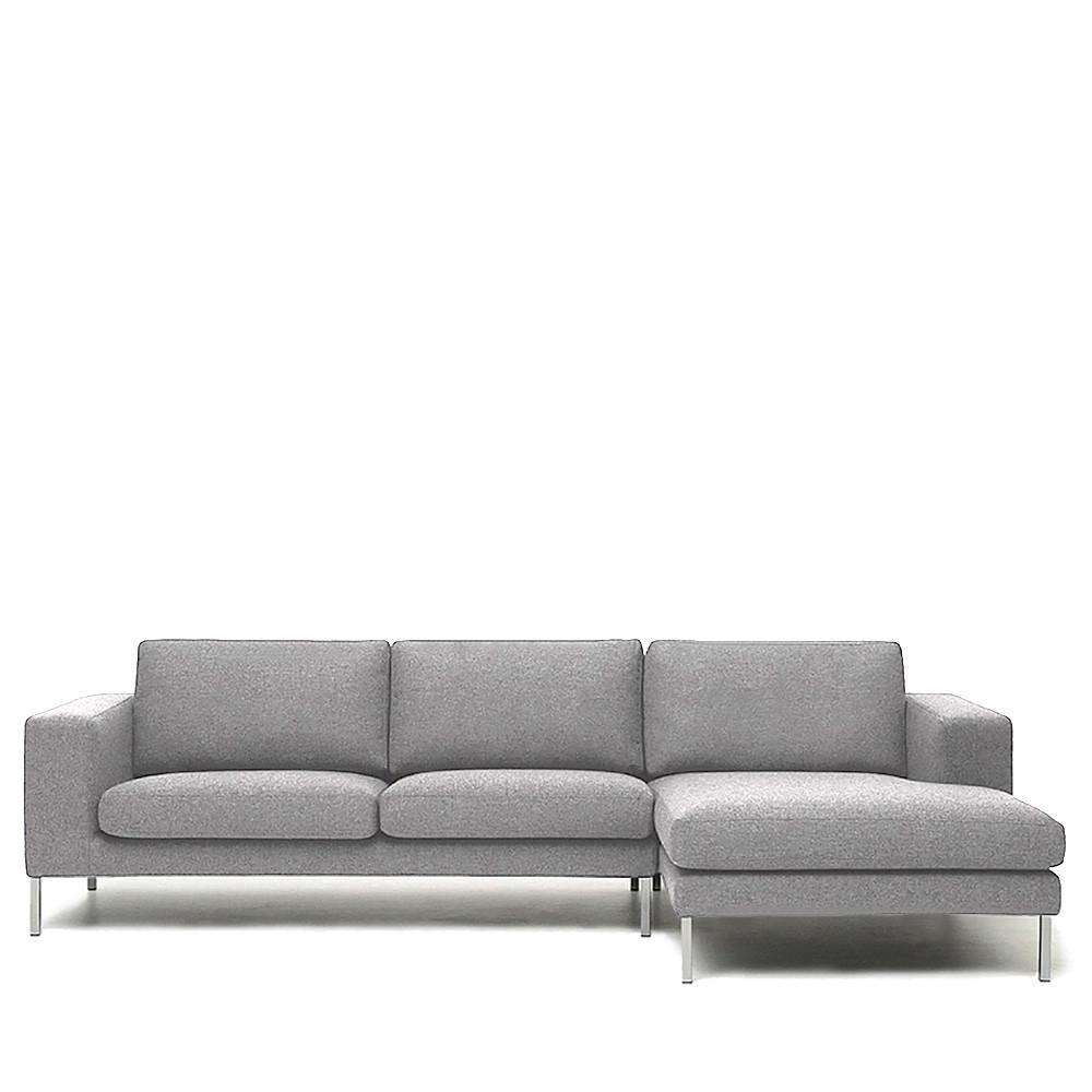 Canapé d angle droit tissu et métal Biki by Modalto Drawer