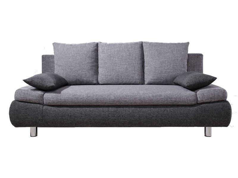 Canapé droit convertible 3 places en tissu NOHA coloris