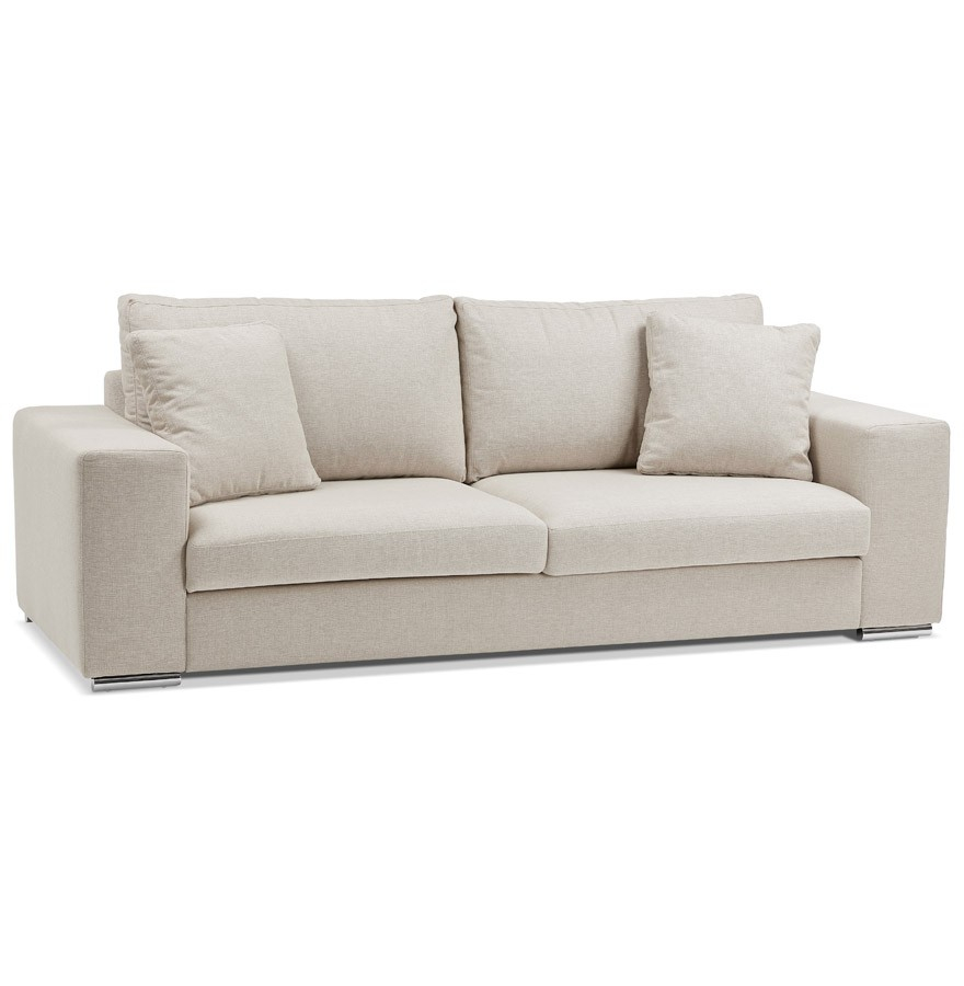 Canapé droit moderne LUCA en tissu beige Canapé design