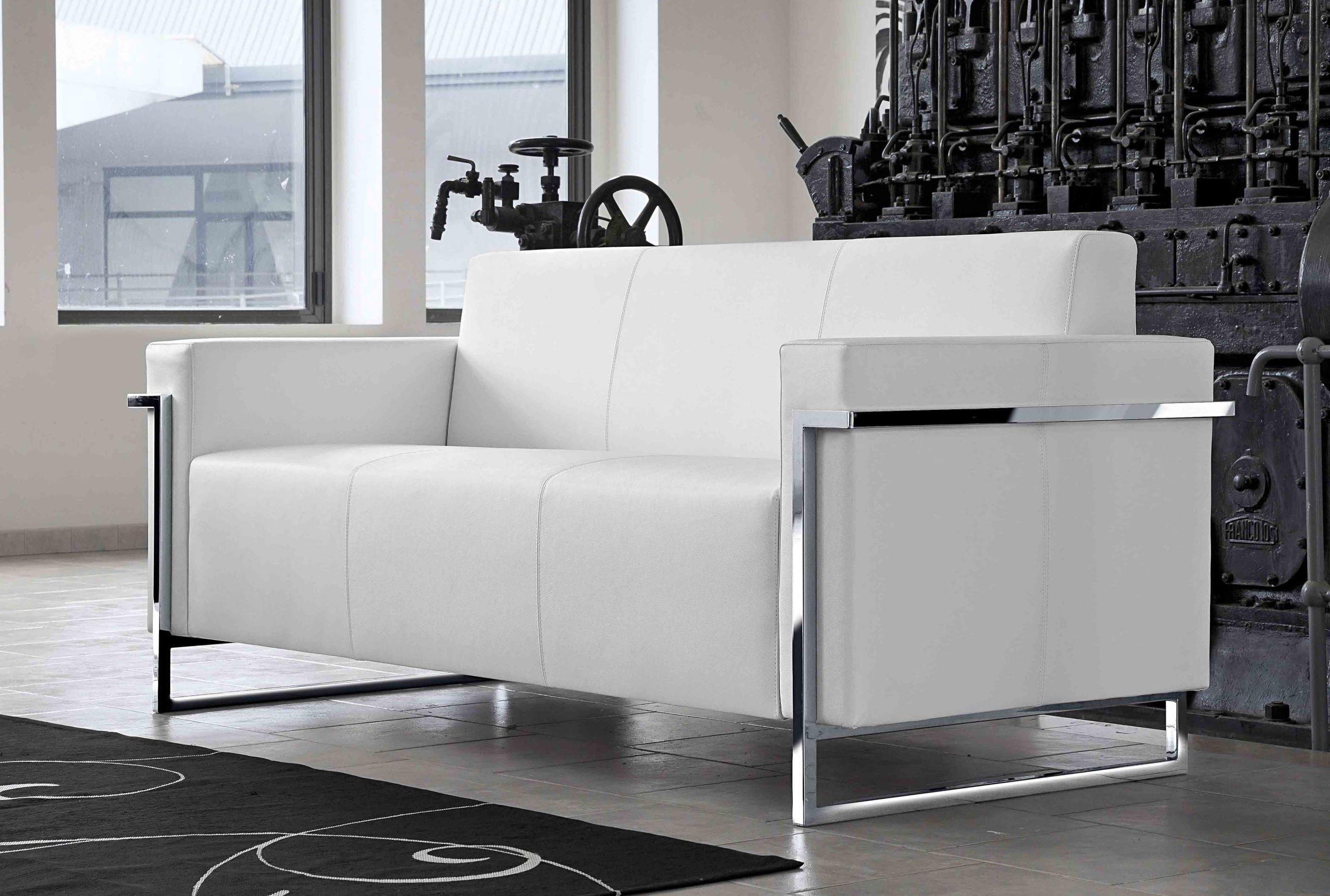 Memoria Canapé 3 places en cuir Blanc MonBureauDesign