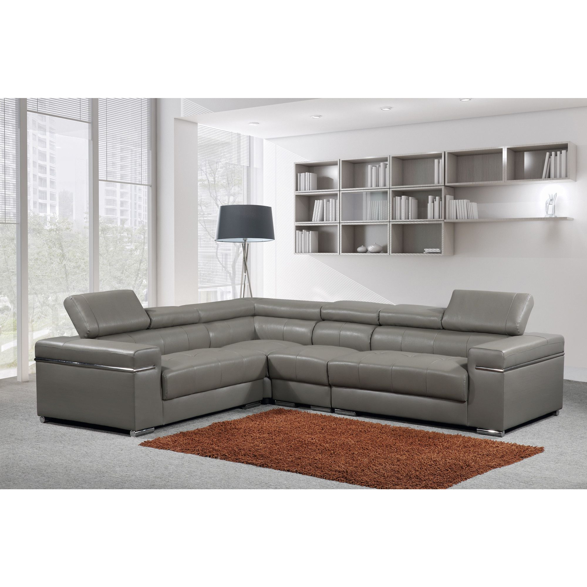 Salon canape dangle gris forium
