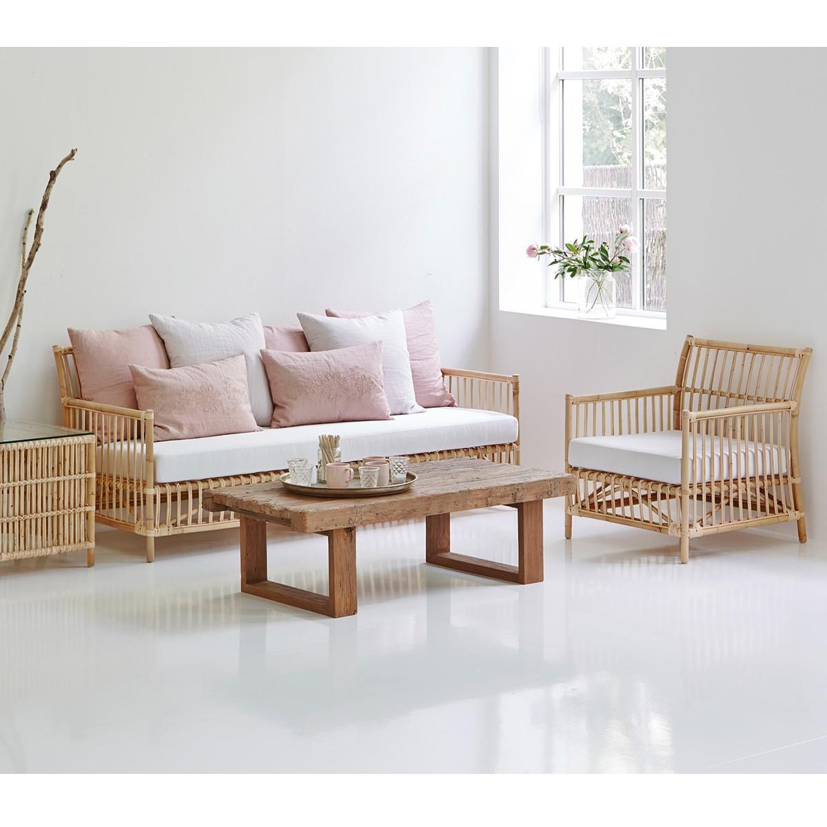 Canapé en rotin Caroline Sika Design