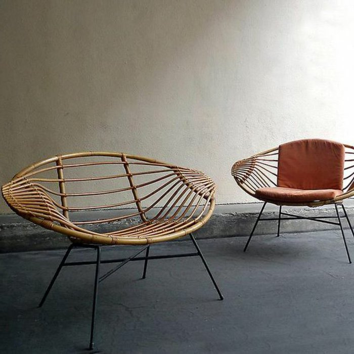 vintage canape rotin fauteuil en osier chaises rotin