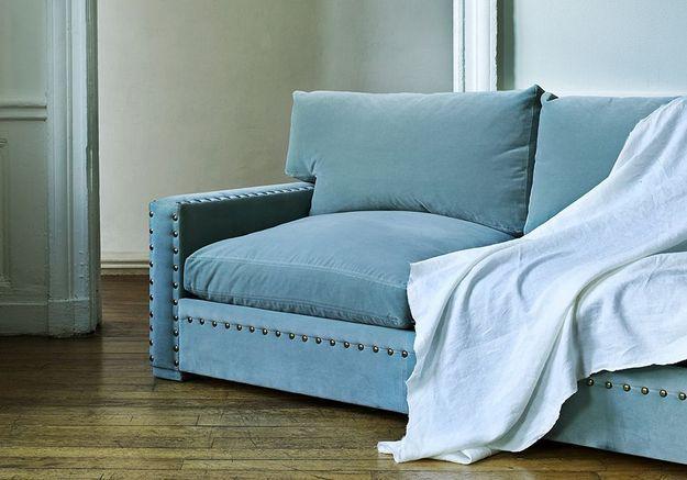 Canapé en velours notre shopping pour un salon glamour