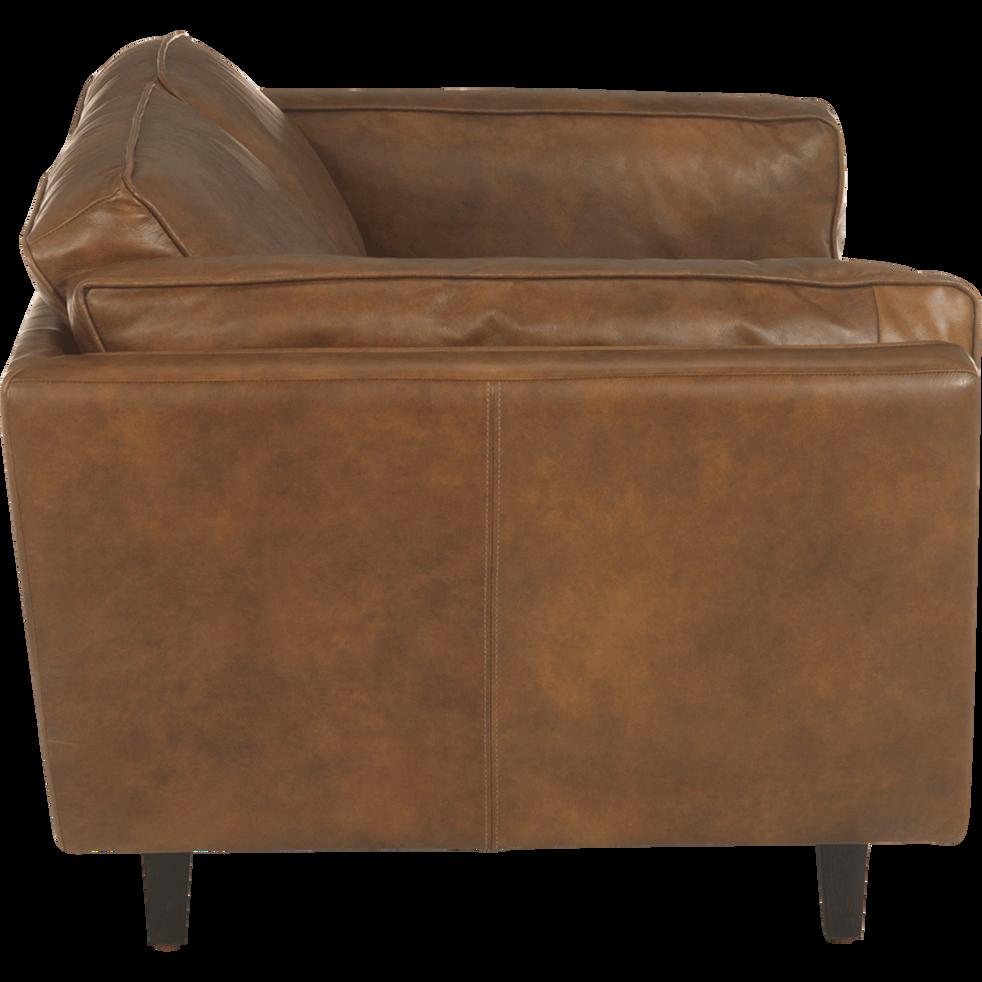 Canapé 2 places fixe en cuir de vachette Brooklyn