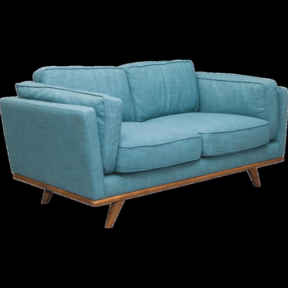 Canapé 2 places fixe en tissu bleu ASTORIA canapés