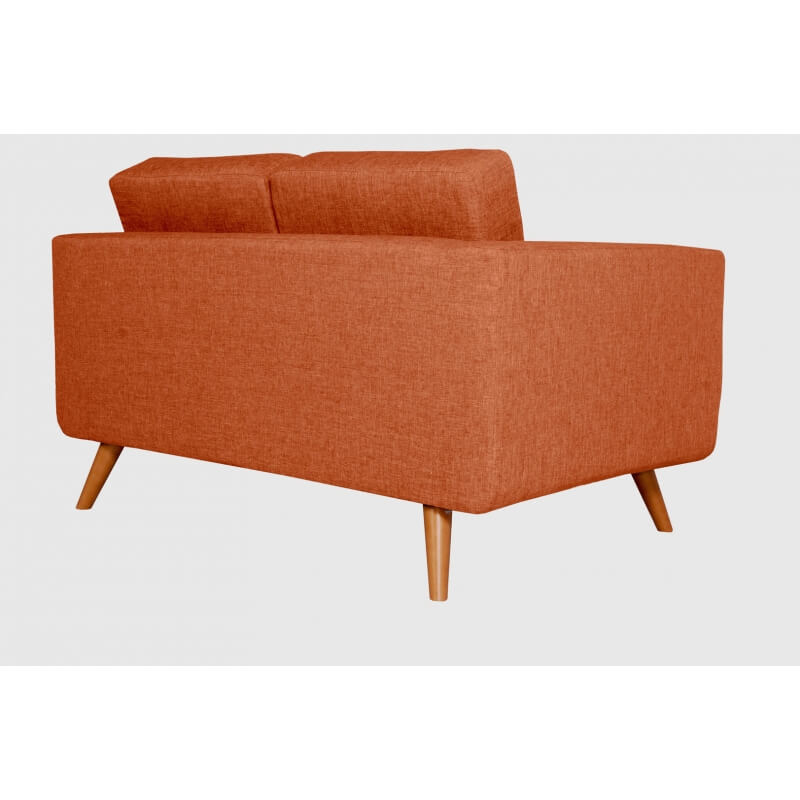 Canapé fixe 2 places contemporain en tissu orange Tebessa