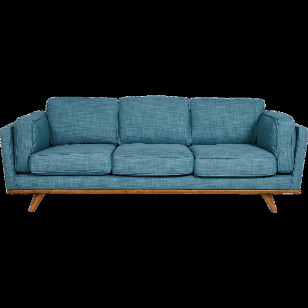 Canapé 3 places fixe en tissu bleu ASTORIA canapés