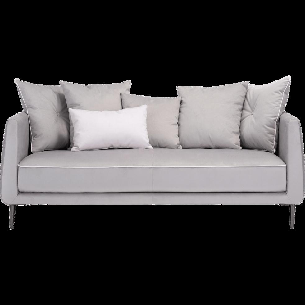 Canapé 3 places fixe en tissu gris borie ASTELLO