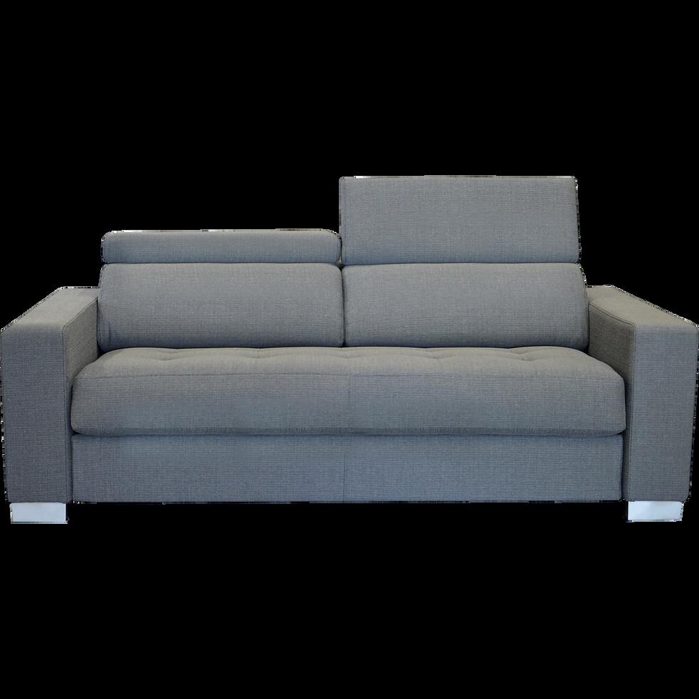 Canapé 3 places fixe en tissu gris clair Mauro canapés
