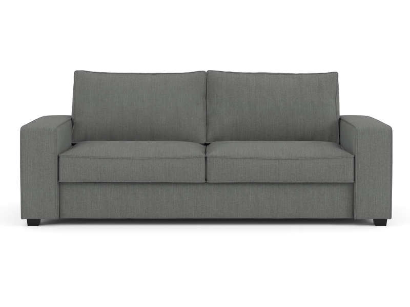Canapé droit fixe 3 places en tissu Coloris gris Vente