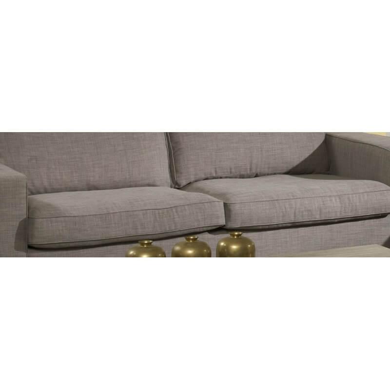 Canapé fixe 3 places en tissu coloris marron clair Windy