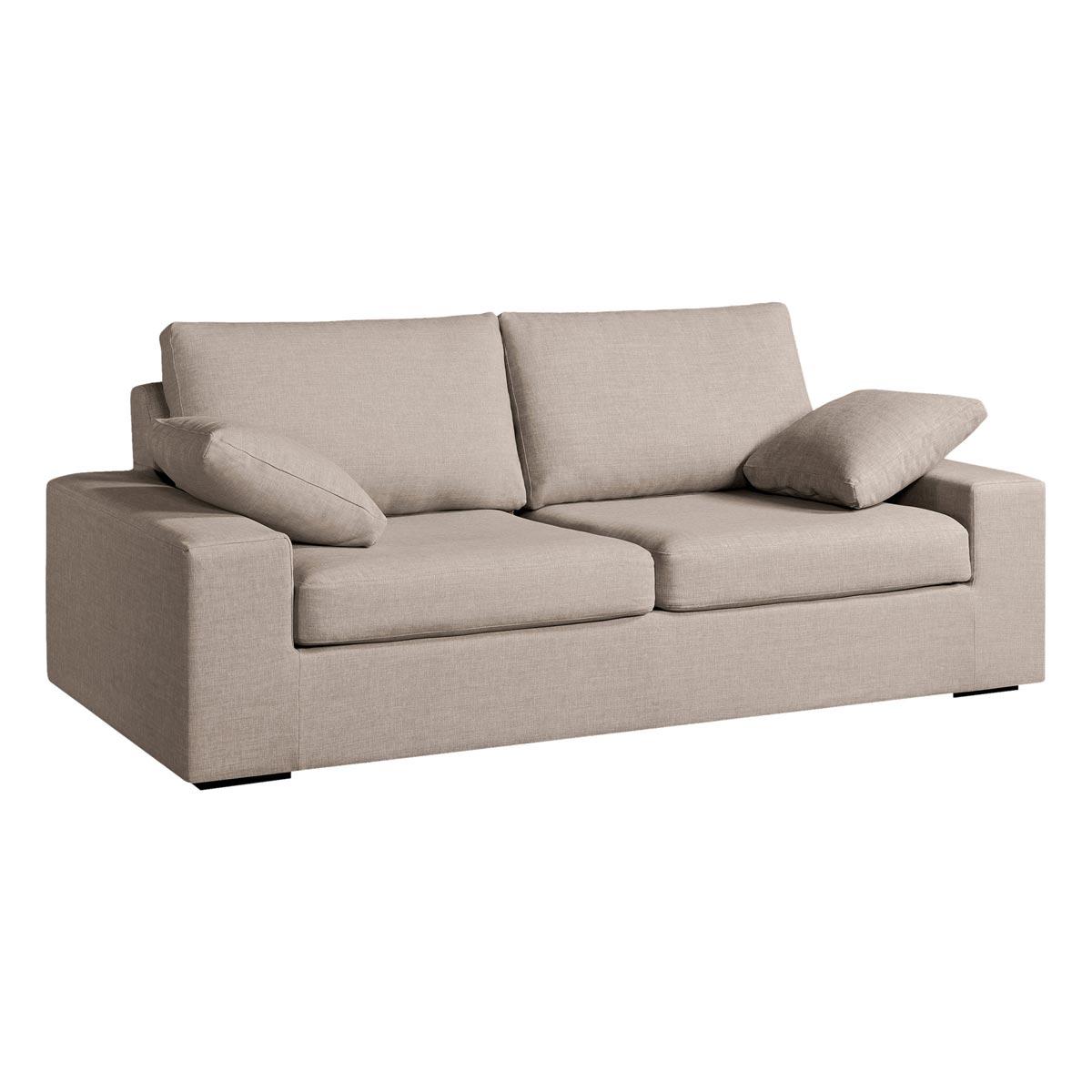 Canapé tissus fixe 2 ou 3 places coloris Naturel Johnson 5215