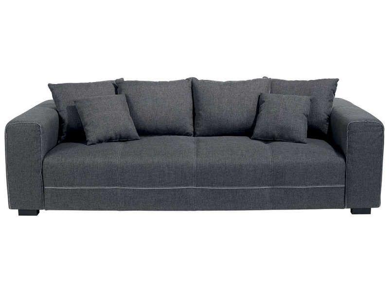 Canapé fixe 3 places DANTE coloris anthracite Vente de
