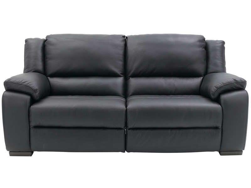 Canapé fixe relaxation électrique 3 places SATURDAY en